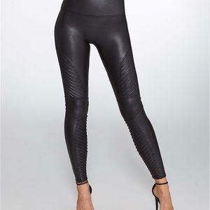 Used Spanx Moto leggings size large